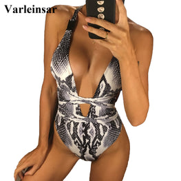 Leopard Printed Bathing Suit Swim One Piece