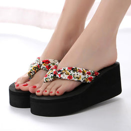 Platform Summer Shoes Fashion Solid Color