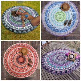 Hot Sale Retro Round Beach Towel