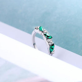 Lovers Crystal Wedding Engagement Rings
