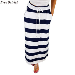 Pencil Skirts Women Fashion Stripe