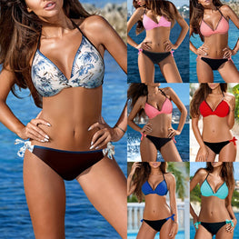 Breathable Swimwear Padded Push-up Bikini Set
