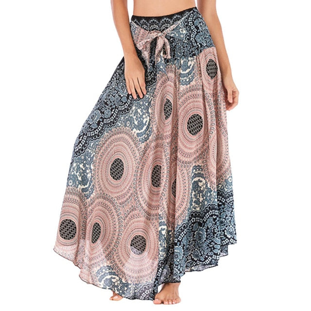 High Waist Bohemian Women's Long Skirt