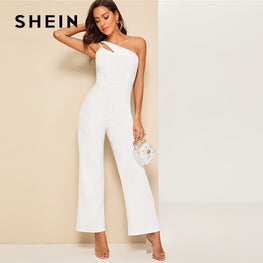 Glamorous Double Strappy One Shoulder Jumpsuit