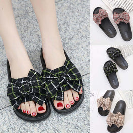 Bow Knot Sandals Summer Slip On