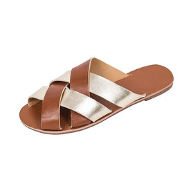 Summer Cross Sandals Flat Bottom