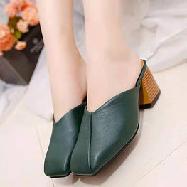 Slippers Fashion High Heel Retro