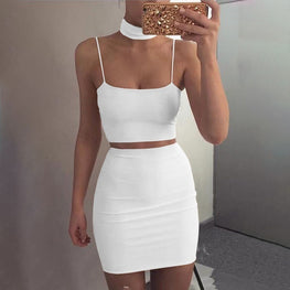 Two Piece Set Summer Crop Top