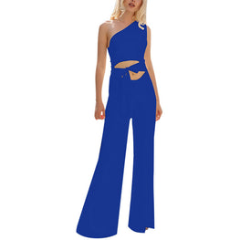 Jumpsuits Women Skew One Shoulder