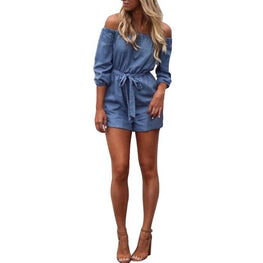 Sexy Womens Playsuit Off Shoulder Ladies