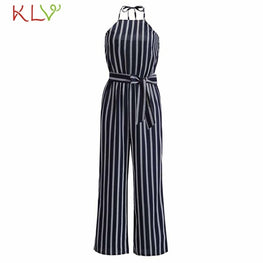 Jumpsuit Summer Sexy Boho Striped Sleeveless