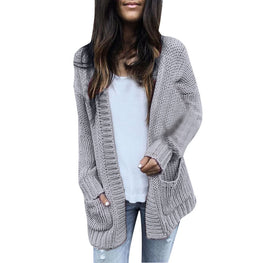 Women Casual Long Sleeve Solid Sweater
