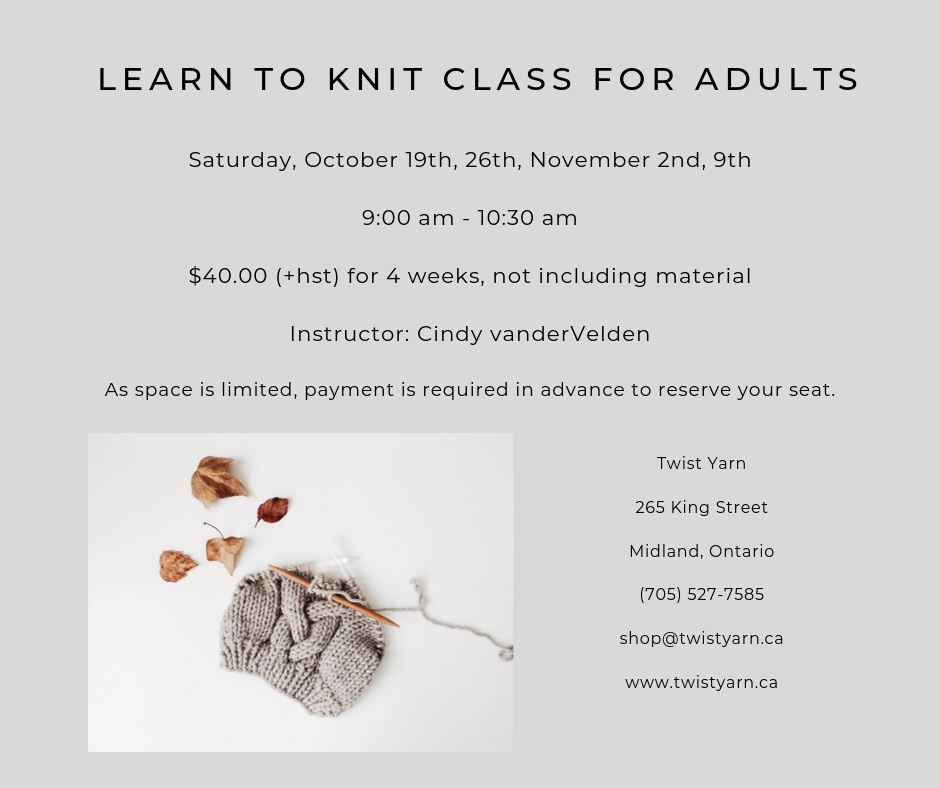 learn to knit for adults