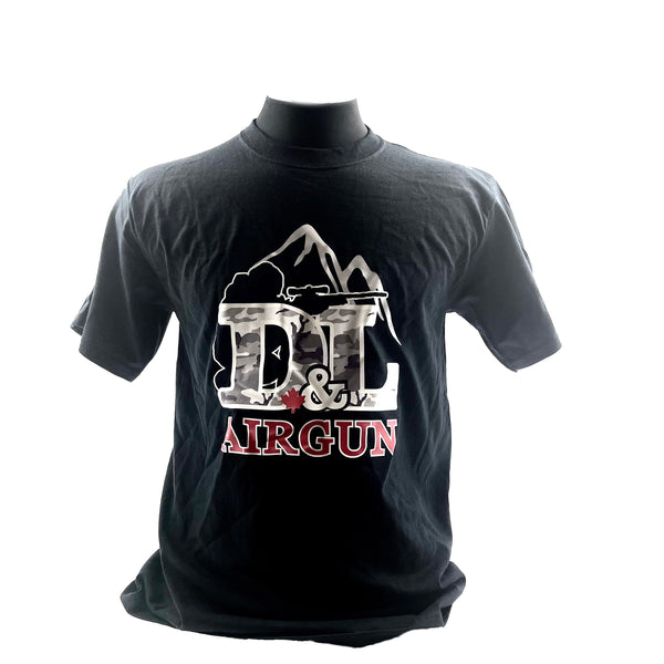 Black 2X-Large D&L Airgun T-shirt