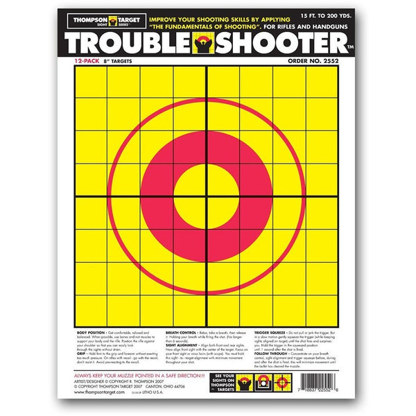 "Trouble Shooter Targets - Paper Handgun Diagnostic 9""X12"" - 12 Pack (2552) (TMP-TR-003)"