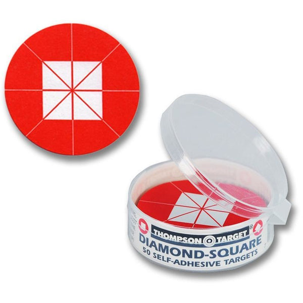 "Stick-Um-Up Diamond Square Red 2.25"" Peel & Stick Targets - 50 Pack (5270) (TMP-TR-027)"
