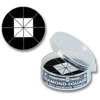 "Stick-Um-Up Diamond Square Black 2.25"" Peel & Stick Adhesive Targets - 50 Pack (5280) (TMP-TR-028)"
