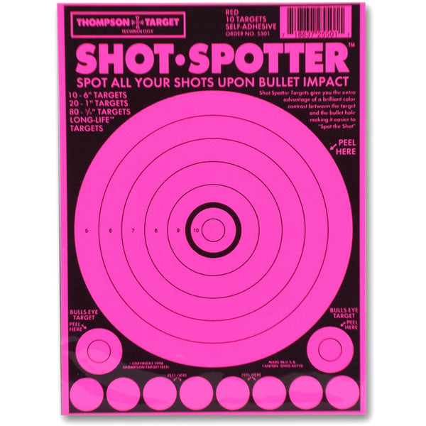 "Shot Spotter Pink - Adhesive Shooting Targets - 6""X9"" - 10 Pack (5501) (TMP-TR-013)"