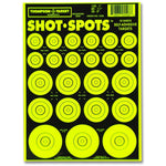 "Shot Spots Green 6""X9"" Adhesive Target Paster Bullseyes - 10 Pack (5506) (TMP-TR-018)"