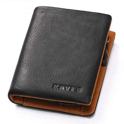 KAVIS M BLACK LEATHER