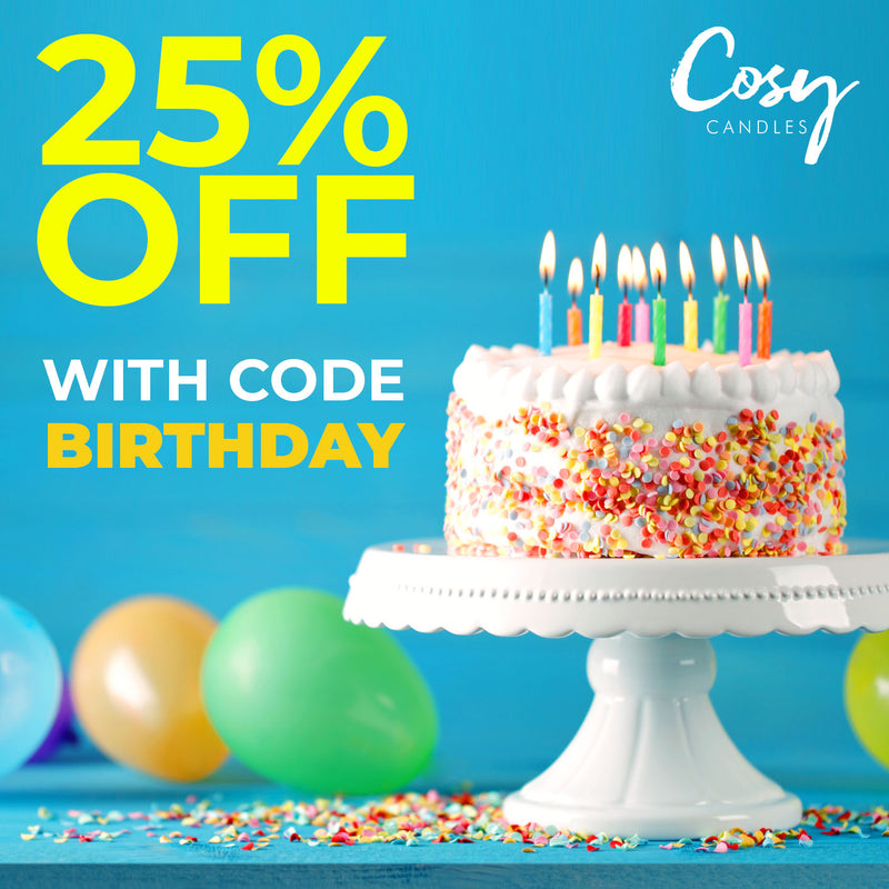 Cosy Candles 1st Birthday Discounts