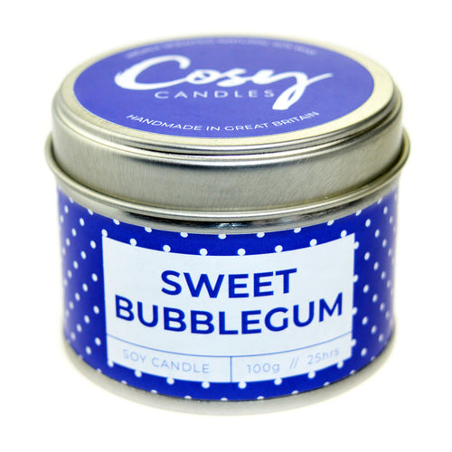 Sweet Bubblegum Tin Candle
