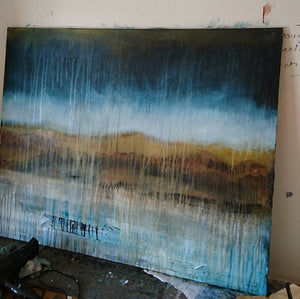 Ragged They Come - Work in Progress for my latest Abstract Landscape
