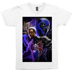 King T'Challa Movie Poster T-Shirts