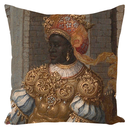 The Adoration of the Kings - Throw Pillow - Njadaka