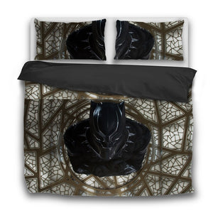 Black Panther 3 Pcs Bedding Sets - Njadaka
