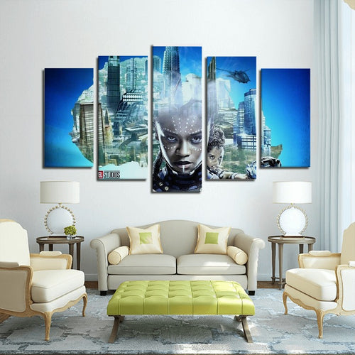 Princess Shuri 5 Panels Canvas Prints Wall Art - Njadaka