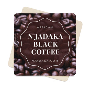 N'Jadaka African Coffee Square Paper Coaster Set - 6pcs