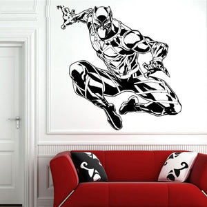Large Black Panther Wall Sticker - Action Figure - Njadaka