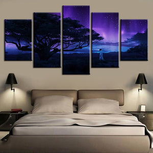 Personalized 5 Framed Canvas Wall Art - Njadaka