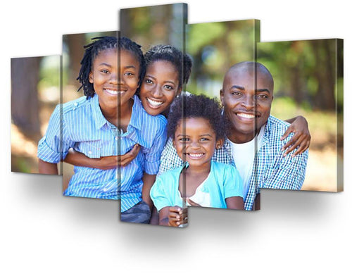https://www.njadaka.com Personalized Framed 5 Panel Canvas Wall Art
