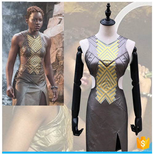 Nakia Faux Leather Costume -  Cosplay - Njadaka
