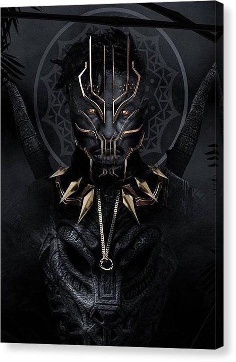 A Portrait Of King N'jadaka - Canvas Print - Njadaka