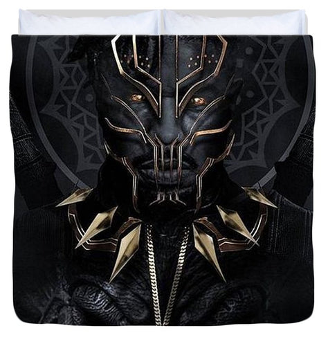 A Portrait Of King N'jadaka - Duvet Cover - Njadaka