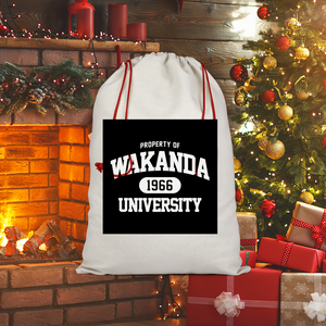 Wakanda University Sublimation Linen Drawstring Sack
