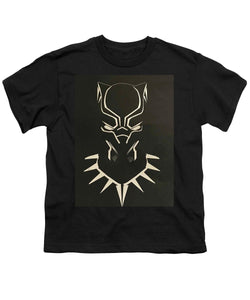 Black Panther Mask - Youth T-Shirt - Njadaka