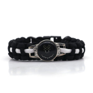 Black Panther Paracord Survival Bracelet - Njadaka