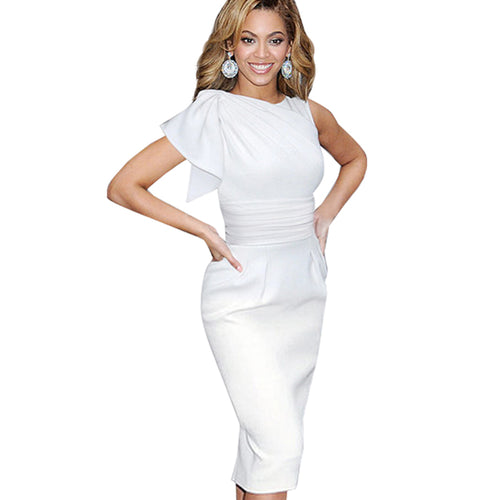 Short White Cocktail Party Dress - Women - Njadaka