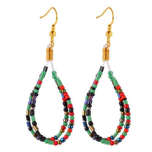 African Beaded Earrings - Njadaka