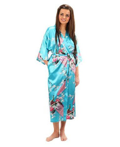 Kimono Robe for Home or Bridal Parties - Njadaka