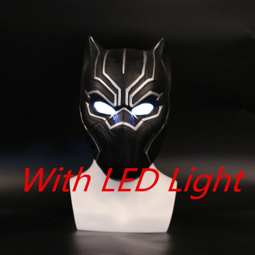 Black Panther Kinetic Energy Helmet with LED Light - Njadaka