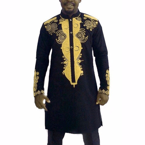 King of Wakanda African Geometric Dashiki - Njadaka