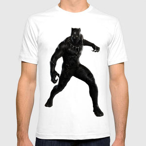 Black Panther White T-Shirt Small to Plus Size 6XL - Njadaka