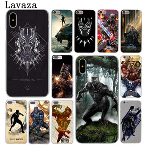 Black Panther Marvel Comics Phone Case for Apple iPhone X 10 8 7 6 6s Plus 5 5S SE 5C 4 4S Cover - Njadaka