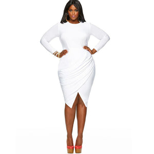 White Dress up to 4XL - Also comes in Pink