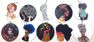 Black Girl Art Earring Collection - 10 Pairs - Njadaka